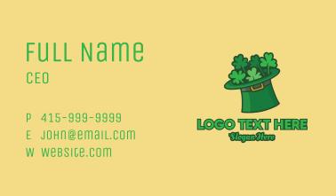 Leprechaun Shamrock Hat  Business Card