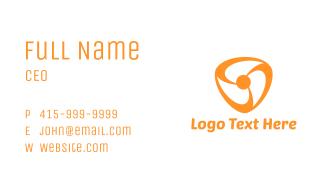 Orange Fan Business Card