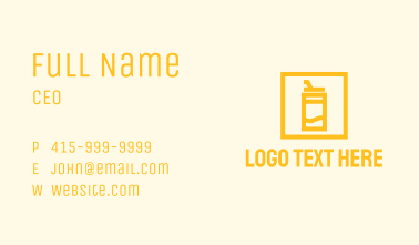 Yellow Tropical Juice Business Card