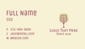 Organic Wine Glass Business Card