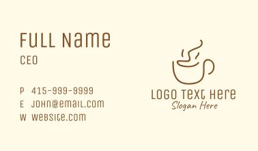 Simple Happy Coffee Mug Business Card