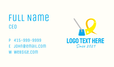 Commercial Cleaning Service  Business Card
