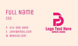 Pink PB Business Card