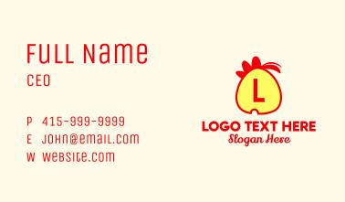 Chicken Egg Lettermark Business Card