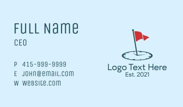 Flag Alarm Clock  Business Card