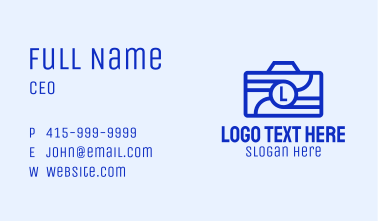 Camera Photography Letter Business Card
