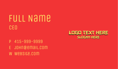Chinese Wordmark Business Card