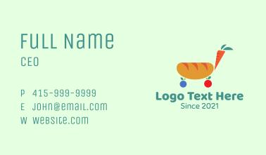 Bread Carrot Cart  Business Card