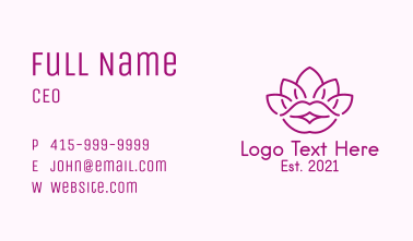 Beauty Lotus Lips  Business Card