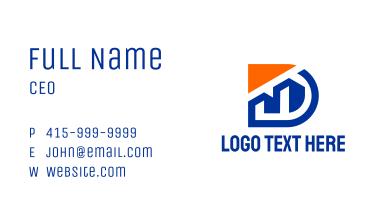 Building Construction Letter D Business Card