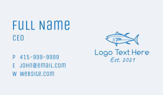 Tuna Fish Seafood Business Card