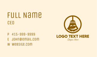 Happy Cleaning Broom  Business Card