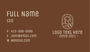 Simple Outdoor Travel Business Card
