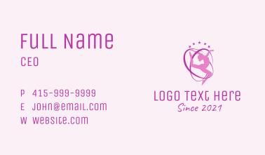 Pink Ribbon Gymnast  Business Card
