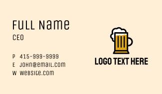 Beer Mug Bistro Business Card