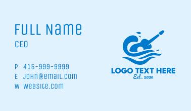 Beach Guitar Concert Business Card