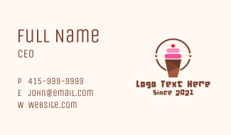 Cherry Smoothie Shake Business Card