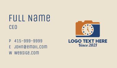 Camera Photography Clock  Business Card