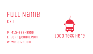 Red Food Truck Business Card