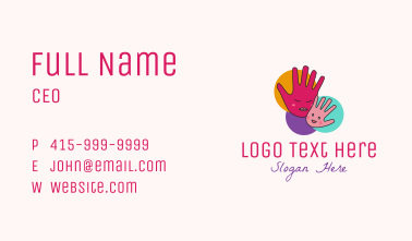 Mother & Child Hand Business Card