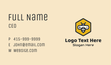 Bee Game Controller  Business Card