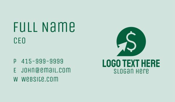 dollar sign - Green Dollar Coin Business card horizontal design