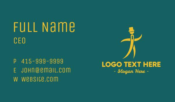 nomad - Needle Man Business card horizontal design