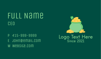 Shamrock Gold Pot Business Card