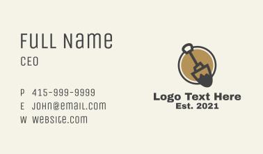 Construction Shovel Tool  Business Card