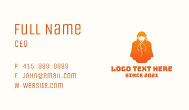 Orange Jacket Clothing Business Card