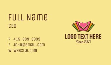 Book Love Emblem  Business Card