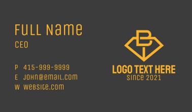 Minimalist Jewelry Letter B Business Card