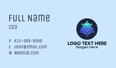 Blue Tech Platform Business Card