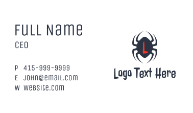 Creepy Spider Letter Business Card
