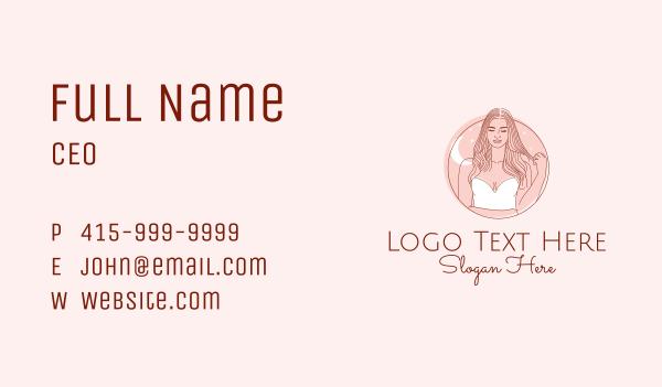 beauty parlor - Woman Beauty Salon  Business card horizontal design