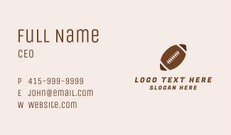 Brown Football Ball Business Card