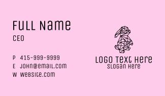 Simple Bunny Line Art Business Card