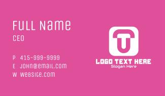 T & U Monogram App Business Card