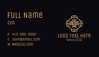Gold Eagle Medieval Emblem Business Card