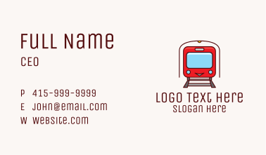 Subway Tunnel Train Business Card