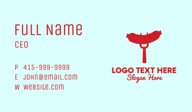BBQ Sausage Grill  Business Card