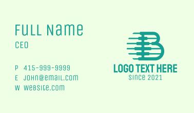 Medical Spine Letter B Business Card