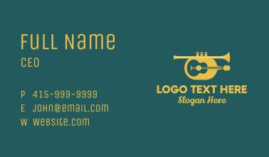 Classic Guitar & Trumpet Business Card