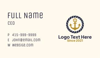 Nautical Anchor Fishing  Business Card