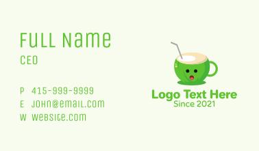 Coconut Cup Juice  Business Card