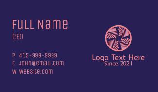 Geometric Spiral Flower Business Card