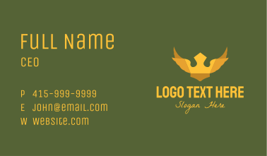 Golden Winged Crown Business Card