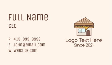 Sandwich House Business Card
