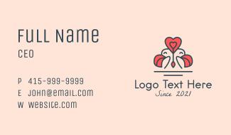 Love Bird Mascot  Business Card