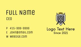 Royal Guard Emblem Business Card